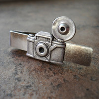 Antique Old Time Camera Tie Bar Clasp in by EnchantedLockets
