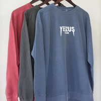 Kanye West Yeezus Tour Supersoft Crewneck Sweatshirt Many Colors Kourtney Kardashian outfit inspired
