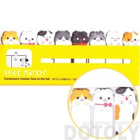 Adorable Kitty Cat Shaped Memo Post-it Bookmark Index Tabs | Animal Themed Stationery