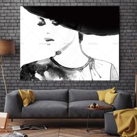 Wall Art Pictures Canvas Painting Make Up Fashion Posters and Prints Art Picture Fashion Girl Wall Pictures No Poster Frame