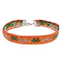 Amber Embroidered Choker