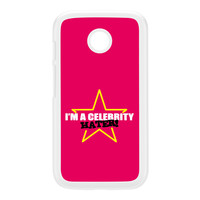 Celebrity Hater White Hard Plastic Case for Moto E by Chargrilled