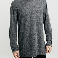 Black Textured Longer length Long Sleeve T-shirt - Men's Tees & Tanks - Clothing - TOPMAN USA