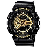 Casio Mens G-Shock XL 3D Ana-Digi - Negative Display - Black Resin Strap - 200M