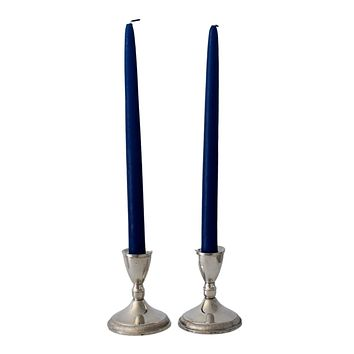 Vintage Sterling Silver Taper Candle Holders Weighted by Duchin c1960 Glam Decor