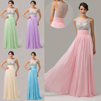 Sequins Corset Long Evening Formal Party Wedding Prom Dresses Bridesmaid Gowns