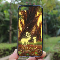 Art,deer,iphone 4 case,iPhone4s case, iphone 5 case,iphone 5c case,Gift,Personalized,water proof