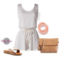 Set 473: Oatmeal Jersey Romper (bag & shoes sold separate)
