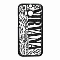 Nirvana all member and song titles collage ac104ef2-4a33-42f2-8c51-2833f752d1ef for HTC One M8 case *RA*