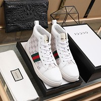 Gucci Men Fashion Boots fashionable Casual leather Breathable Sneakers Running Shoes 12