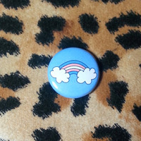 Transgender Flag Rainbow Pinback Button or Magnet