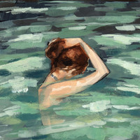 My Home is the Sea . 16 x 20 giclee art print poster