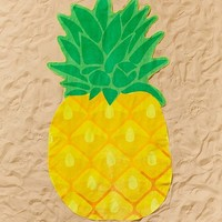 Sunnylife Pineapple Shaped Beach Towel | Urban Outfitters