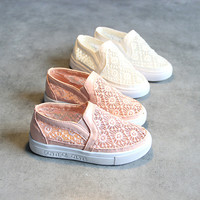 Casual Hot Deal On Sale Hot Sale Comfort Summer Shoes Lace Permeable Korean Stylish Loafer Shoes Sneakers [4920337988]