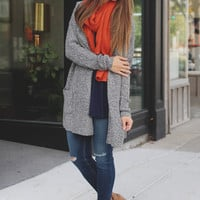 French Countryside Cardigan - Grey