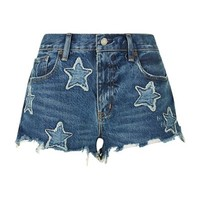 Denim & Supply Ralph Lauren Star Appliqué Cut-Off Denim Shorts
