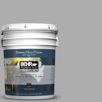 BEHR Premium Plus Ultra, 5-gal. #N520-3 Flannel Gray Eggshell Enamel Interior Paint, 275405 at The Home Depot - Mobile
