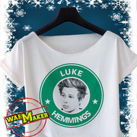 Luke Hemmings Crop Top Luke Hemmings Shirt Black and White for Women
