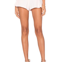 Alexis Mai Pleated Shorts in Pale Pink