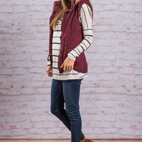 Sled You On Vest, Burgundy