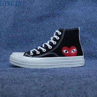 2021 Spring PLAY Black CDG 1970s All Cool Star High/Low Top Unisex Skateboarding Shoes Sapato Feminino Zapatos De Mujer