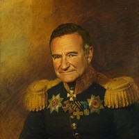 Robin Williams - replaceface Art Print by Replaceface | Society6