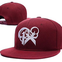 RHXING Three Days Grace One X Logo Adjustable Snapback Embroidery Hats Caps - Red