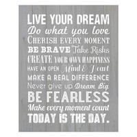 ''Live Your Dream'' Canvas Wall Art