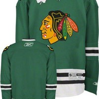 Chicago Blackhawks St. Patrick's Day Green Reebok Premier NHL Jersey