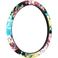 Bell Automotive Products Black Floral Steering Wheel Cover | Product Details | Pep Boys