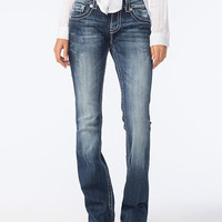 Miss Me Aim Your Arrow Womens Bootcut Jeans Denim  In Sizes