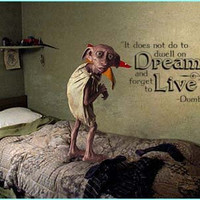 Harry Potter Inspired Dumbledore It does not do to dwell on dreams and forget to live vinyl wall decal quote