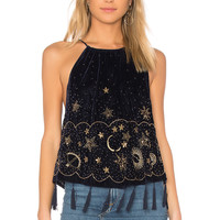 Free People Midnight Magic Embellished Tank in Midnight