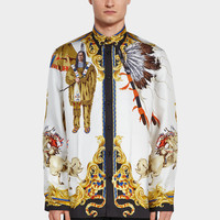 Versace Native American FW'92 Silk Shirt for Men | US Online Store