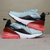 NIKE AIR MAX 270 FLYKNIT Flying Knit Air Cushion Casual Jogging Shoes F-AHXF blue