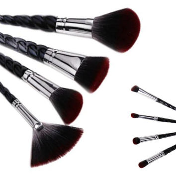 2017 8PCS Professional Makeup brushes Face Cosmetic brushes set Concealer Powder Foundation Eyeshadow Lip brush Pincel maquiagem