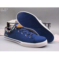 LACOSTE 17 years of leisure wear low help canvas shoes F-A36H-MY