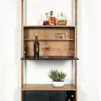Nuevo Living Theo Wall Unit with Bar