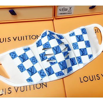 Louis Vuitton LV New lattice printed comfortable isolation mask (safely disinfected)
