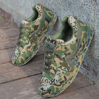 Mens Climbing Shoes Camouflage Training Safety Shoes