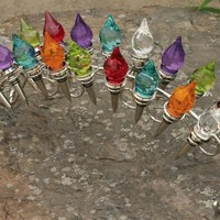 Wine Bottle Stopper Stand, Chrome Plated Holds 18 Stoppers