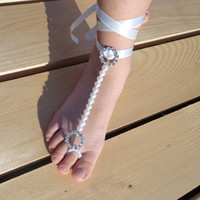 Sexy Erotic Foot Accessory Jewelry Lingerie Bridal Shoes