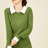 Wine Appreciation Sweater in Shamrock | Mod Retro Vintage Sweaters | ModCloth.com