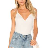 by the way. Effie Bow Tie Bodysuit in Ivory | REVOLVE