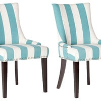 Aqua Lester Dining Chairs, Pair, Dining Chair Sets