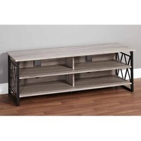 """Jaxx Collection TV Stand for TVs up to 60"""", Black/Gray - Walmart.com"""