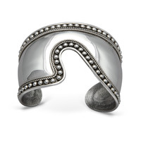 Balinesia Artisan Crafted Sterling Silver Granulated Cuff Bracelet