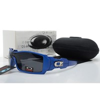 Ready Stock Original Oakley Sunglasses Unisex Eyeglass Blue Black Eyewear