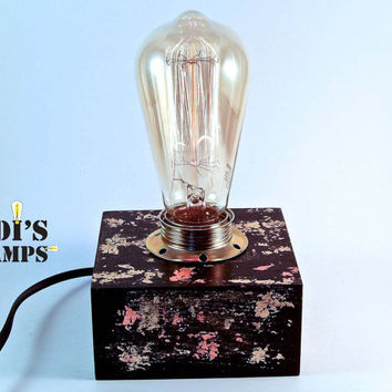 Modern Lamp Edison Lamp Edison Table Lamp Table Lamp Desk Lamp Edison Bulb Lamp Small Lamp Black Gold Modern Home Decor Table Lamp Vintage