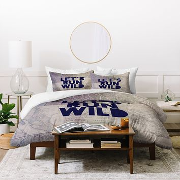 Leah Flores Lets Run Wild X Maps Duvet Cover